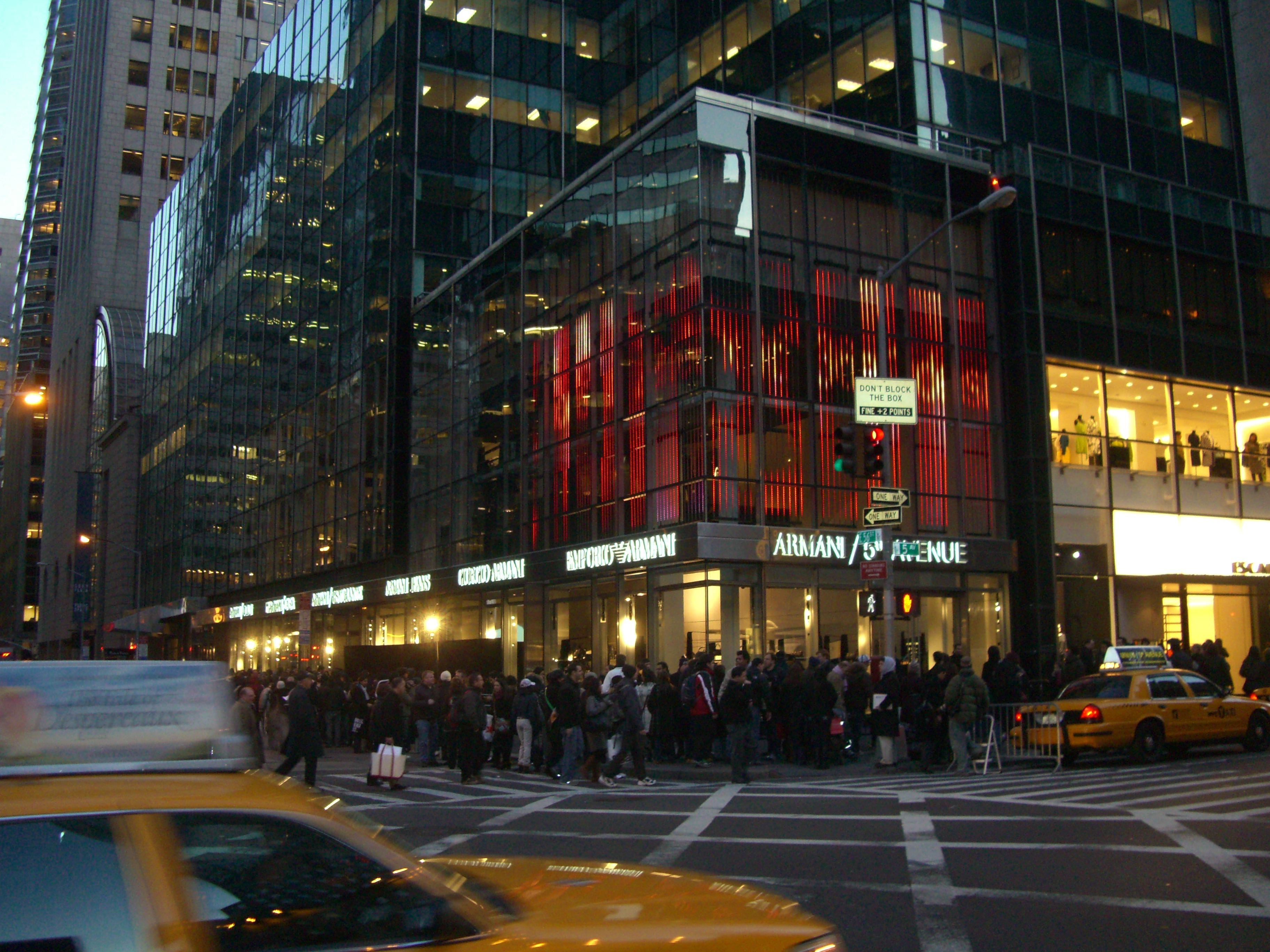 Armani 5th avenue studio di ingegneria sarti for Armani store nyc