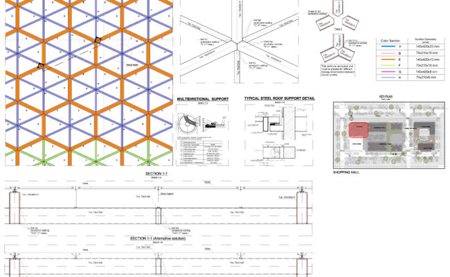 7.10_Shopping Mall – Roof steel details